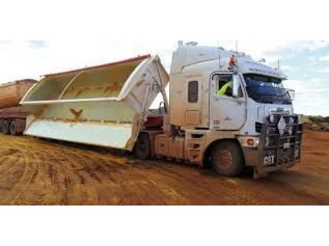 Side tipper trucks driver